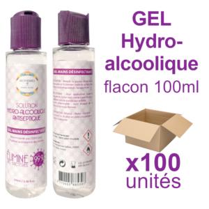Carton de 100 unités de Gel Hydro-alcoolique (flacon 100ml)