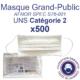 Masques Grand-Public AFNOR/DGA UNS Catégorie 2