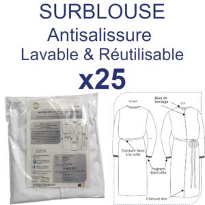 Surblouse Antisalissure lavable et réutilisable