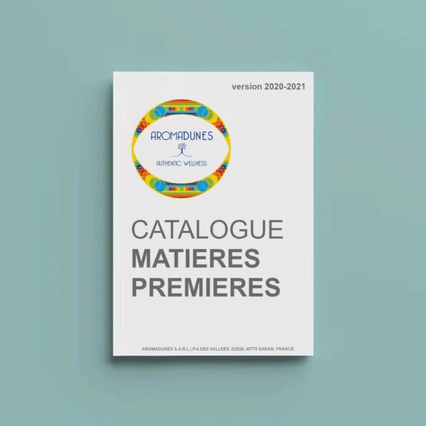 Catalogue des matières premières disponibles chez les fournisseurs d'Aromadunes en Europe et au Maroc